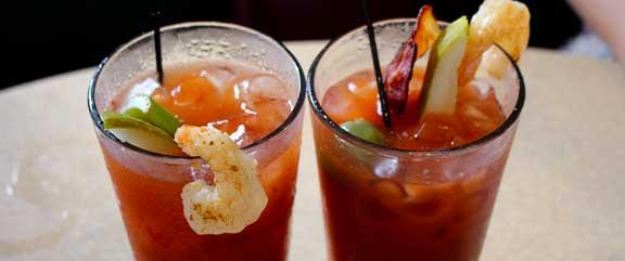 Loaded Shrimp Bloody Marys   Mel's Diner - Southwest Florida's Classic American Diner