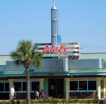 Exterior of Cape Coral Location | Mel's Diner - Southwest Florida's Classic American Diner