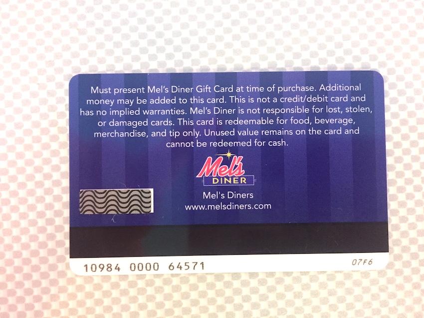 Gift Card | Mel's Diner - Southwest Florida's Classic American Diner